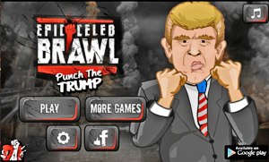 release your anger by punch the trump